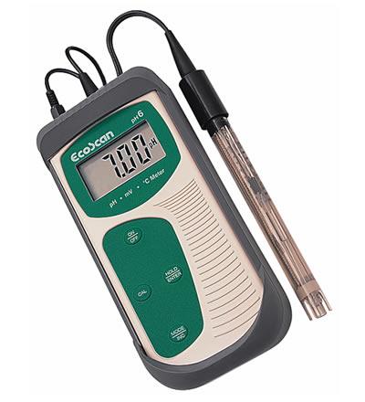 เครี่องวัดกรดด่าง PH meter EcoScan pH6