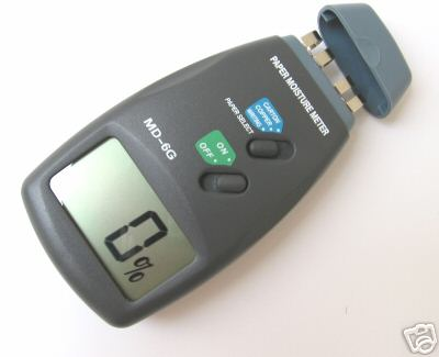Moisture Meter เครื่องวัดความชื้นเนื้อกระดาษแบบสัมผัส MD-6G