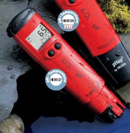 เครี่องวัดกรดด่าง pH / Temp Meter HANNA รุ่น HI98127