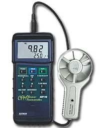 เครื่องวัดความเร็วลม Heavy Duty CFM Metal Vane Anemometer 407113