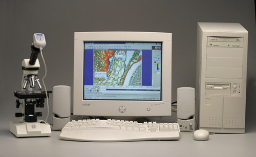 ชุดอุปกรณ์ และโปรแกรมวิเคราะห์ภาพ Moticam 1000
