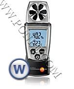 เครื่องวัดความเร็วลม ความชื้น อุณหภูมิ Anemometer Testo 410-2