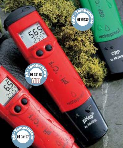 เครี่องวัดกรดด่าง pH Meter / Temp HANNA รุ่น HI98128