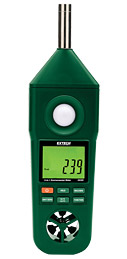 EN300: Hygro-Thermo-Anemometer-Light-Sound Meter
