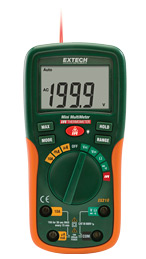 EX210: 8 Function Mini Digital MultiMeter with IR Thermometer