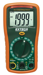 EX310: 9 Function Mini MultiMeter + Non-Contact Voltage Detecto
