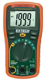 EX320: 8 Function Mini MultiMeter + Non-Contact Voltage Detecto