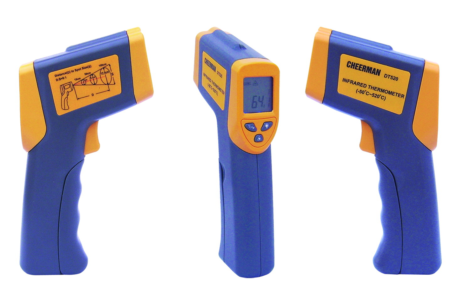Infrared Thermometers อินฟราเรดเทอร์โมมิเตอร์ DT520