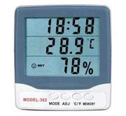 Thermometer เครื่องวัดอุณหภูมิ ความชื้น พร้อมนาฬิกา รุ่น HY-302