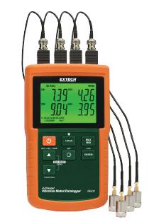 VB500: 4-Channel Vibration Meter/Datalogger