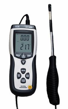 เครื่องวัดความเร็วลม เครื่องวัดปริมาตรลม CFM รุ่น DT-8880