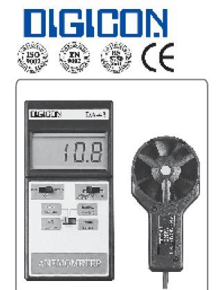 DA-43 Anemometer Thermometer เครื่องวัดความเร็วลม และอุณหภูมิ