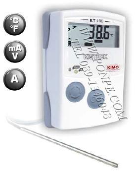 เครื่องวัดและบันทึกอุณหภูมิ  Thermometer Datalogger KIMO KT100