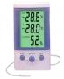 เทอร์โมมิเตอร์ เครื่องวัดอุณหภูมิ 2 จุด และความชื้นสัมพัทธ์ DT-3
